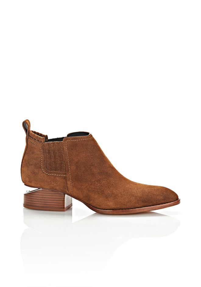 ALEXANDER WANG Boots KORI SUEDE OXFORD WITH RHODIUM