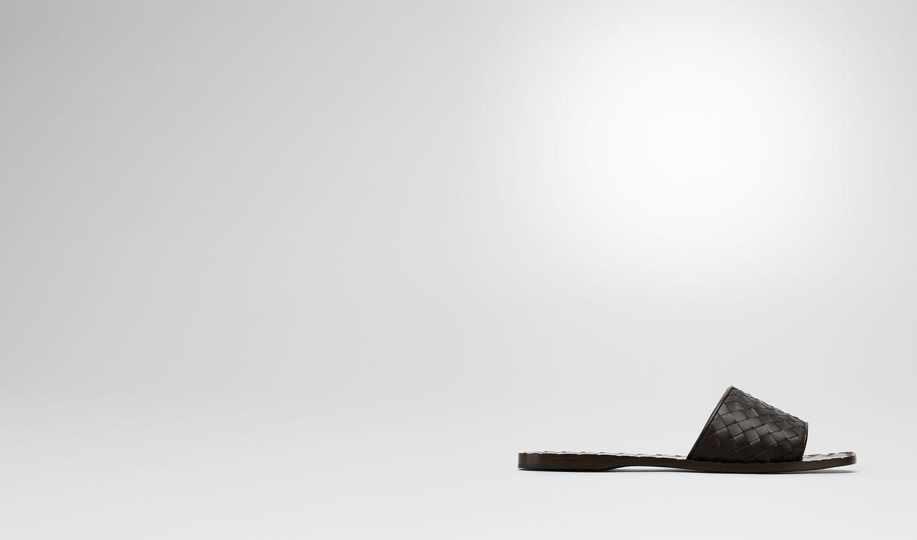 ravello sandals in espresso intrecciato nappa landing