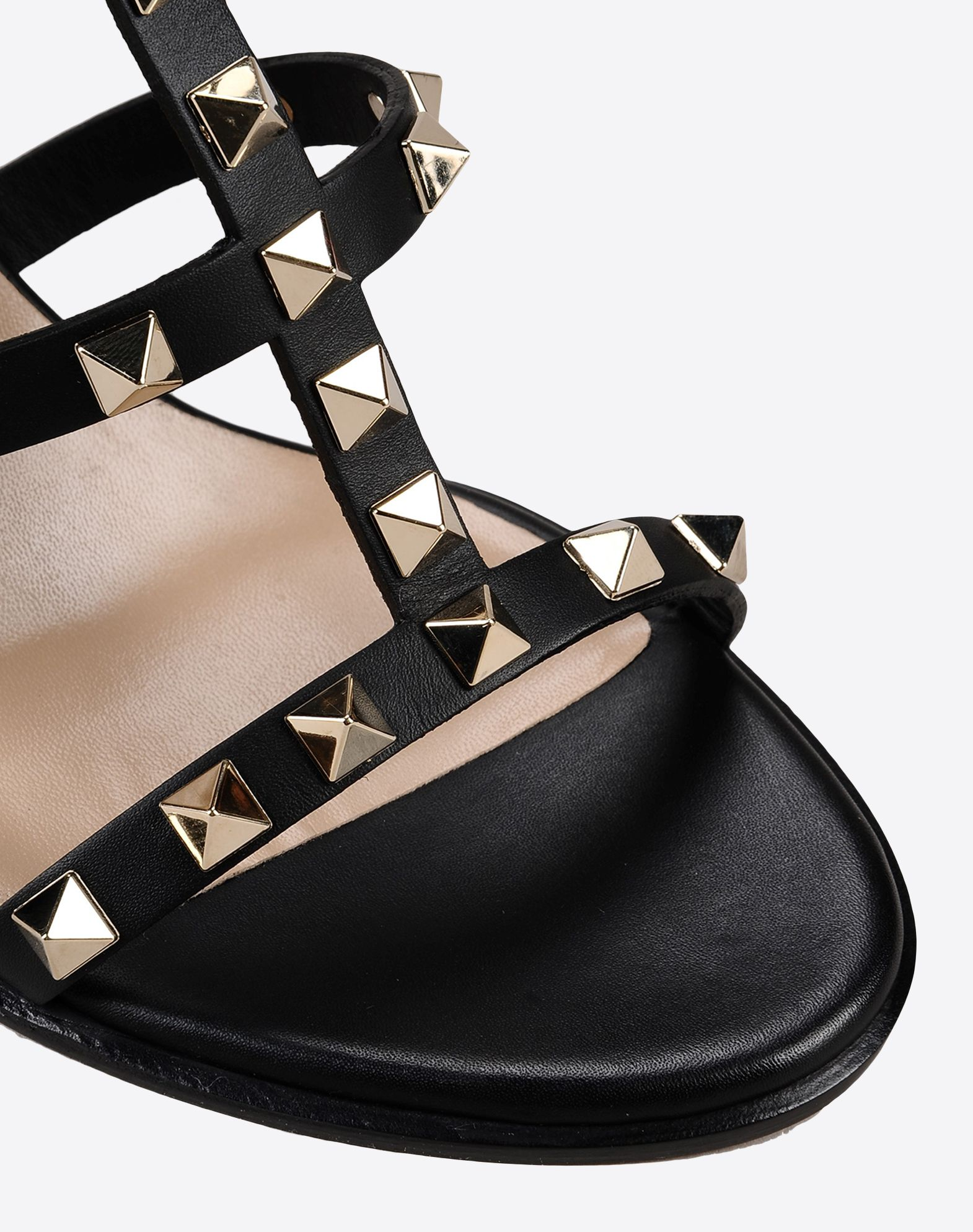 VALENTINO Studs Solid color Buckle Leather sole Round toeline Covered heel  44978444ok