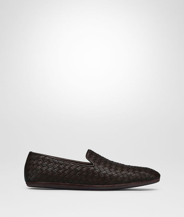 BOTTEGA VENETA FIANDRA SLIPPER IN ESPRESSO INTRECCIATO CALF Mocassin or Slipper Man fp