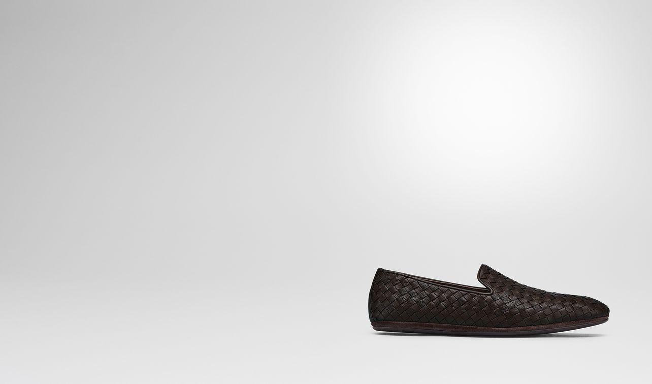 espresso intrecciato calf slipper landing