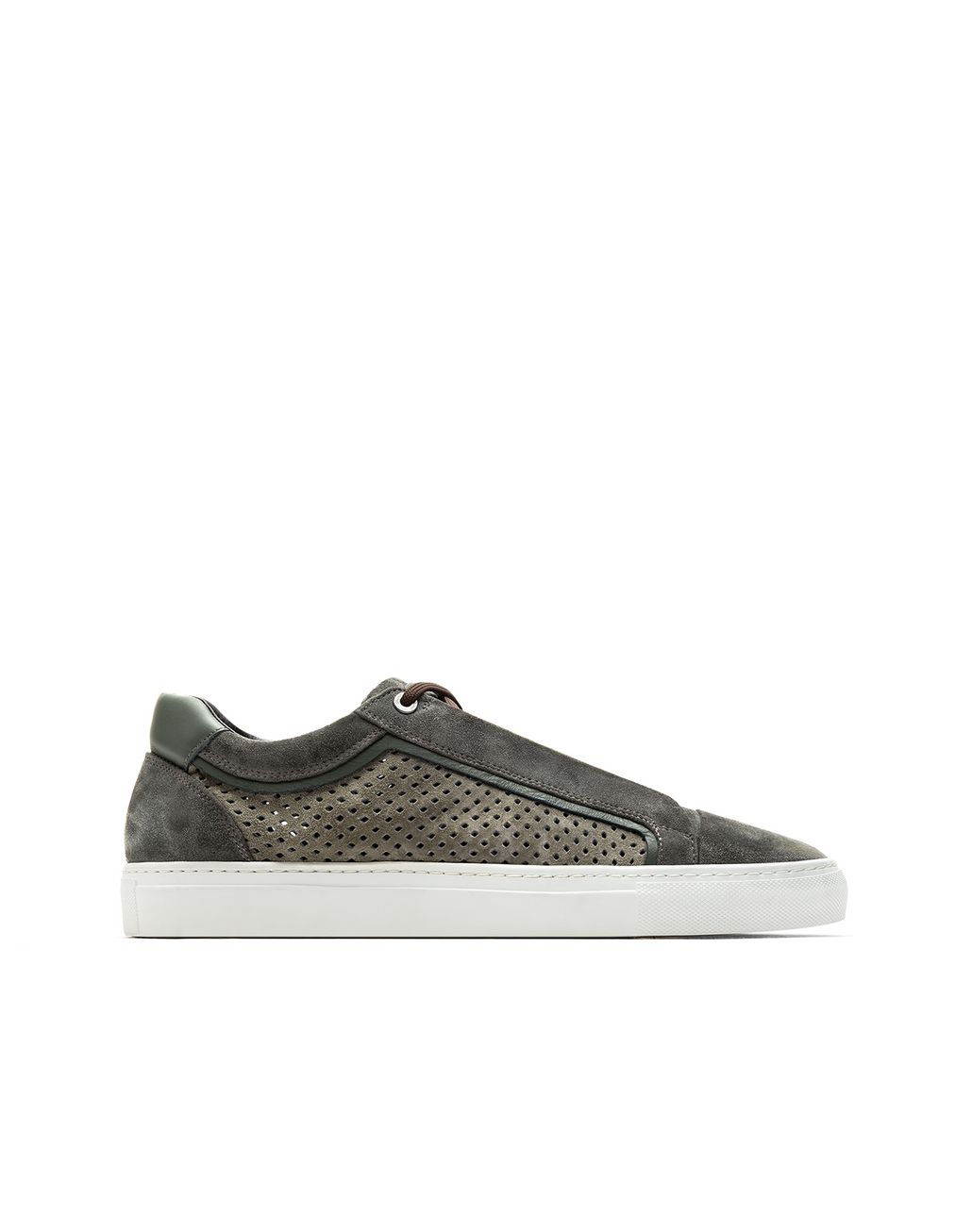BRIONI Leather sneakers Sneakers Man f