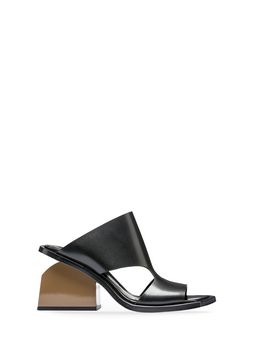 Marni Sandal in smooth glossy calfskin X shaped bar Woman