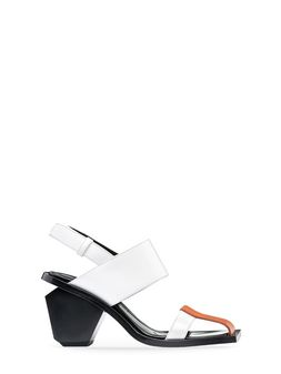 Marni Runway sandal in two-colour soft calfskin  Woman