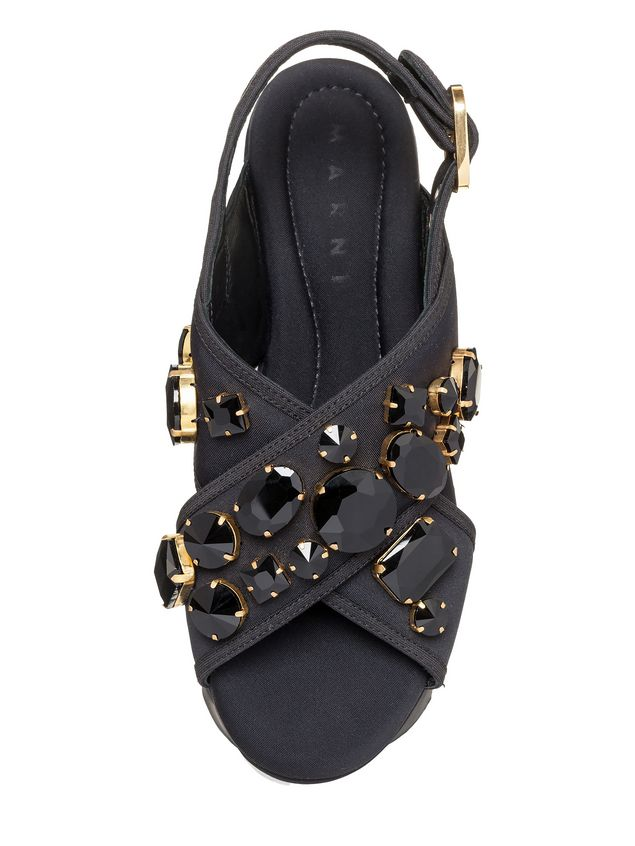Marni Crossover sandal in technical fabric with piping Woman - 4
