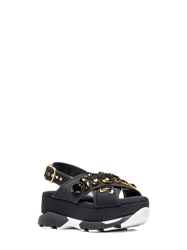 Marni Crossover sandal in technical fabric with piping Woman - 2