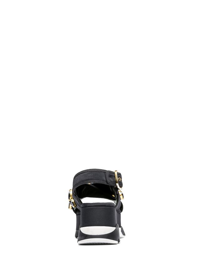 Marni Crossover sandal in technical fabric with piping Woman - 3