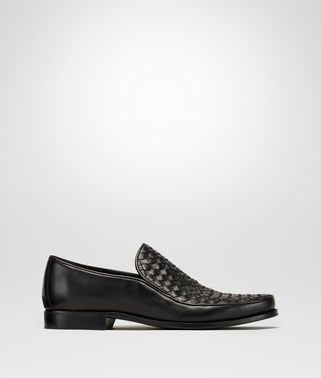 SLIP-ON IN NERO INTRECCIATO CALF
