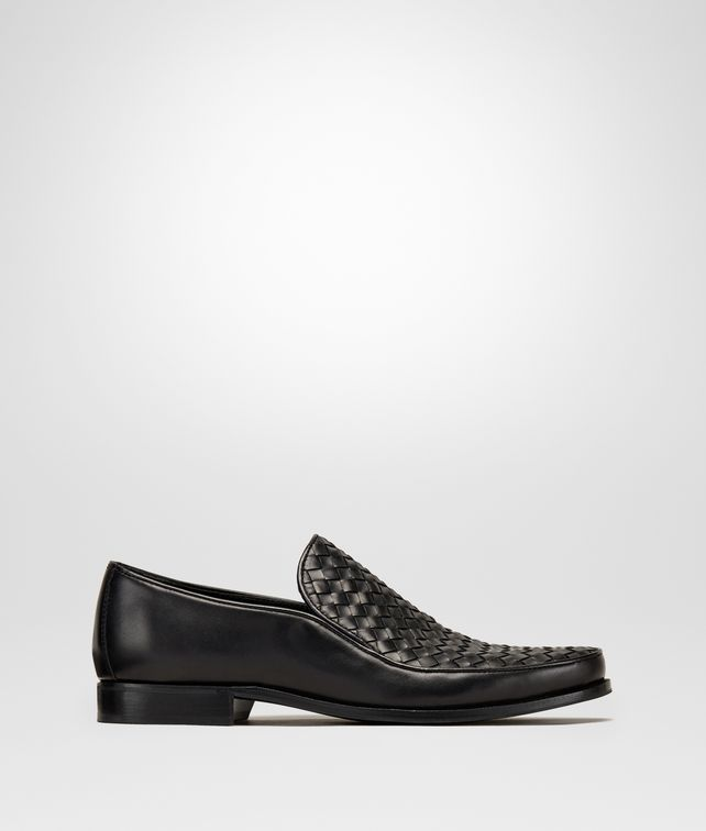 BOTTEGA VENETA ANWICK SLIP-ON IN NERO INTRECCIATO CALF Mocassin or Slipper [*** pickupInStoreShippingNotGuaranteed_info ***] fp