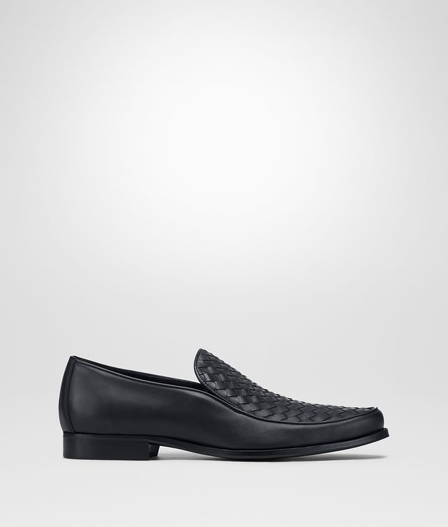 BOTTEGA VENETA ANWICK SLIP-ON IN DARK NAVY INTRECCIATO CALF Mocassin or Slipper Man fp