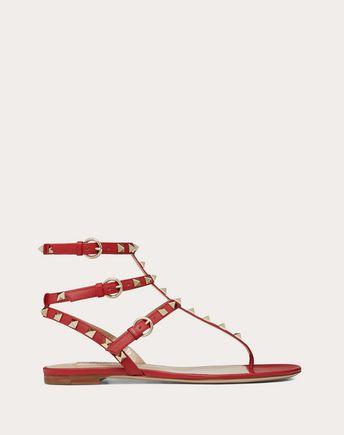 VALENTINO GARAVANI FLAT SANDALS D Rockstud Flat sandal f