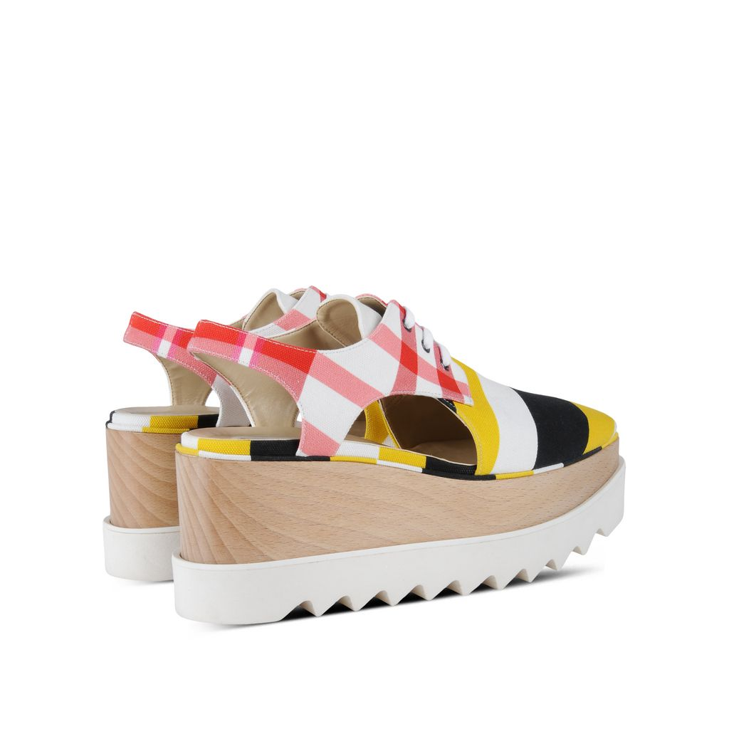 Check Elyse Cut-Out Shoes - STELLA MCCARTNEY
