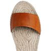 STELLA McCARTNEY Tan Raffia Wedges Sandals D a