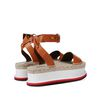STELLA McCARTNEY Tan Raffia Wedges Sandals D d