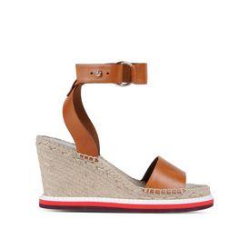 STELLA McCARTNEY Sandals D Tan Raffia Espadrilles f