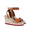 STELLA McCARTNEY Tan Raffia Espadrilles Sandals D r