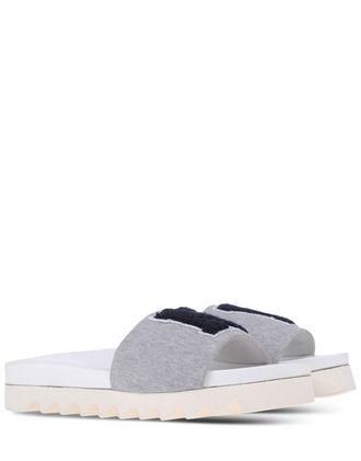 Grey 'NY' Slide Sandals