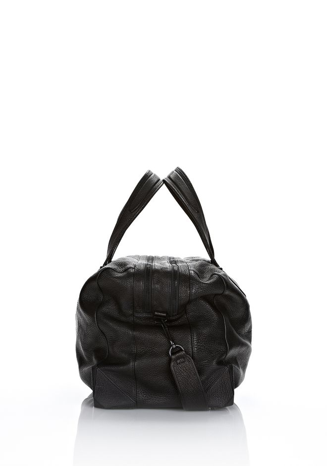 ALEXANDER WANG WALLIE DUFFLE IN BLACK GOATSKIN WITH MATTE BLACK Travel Adult 12_n_e