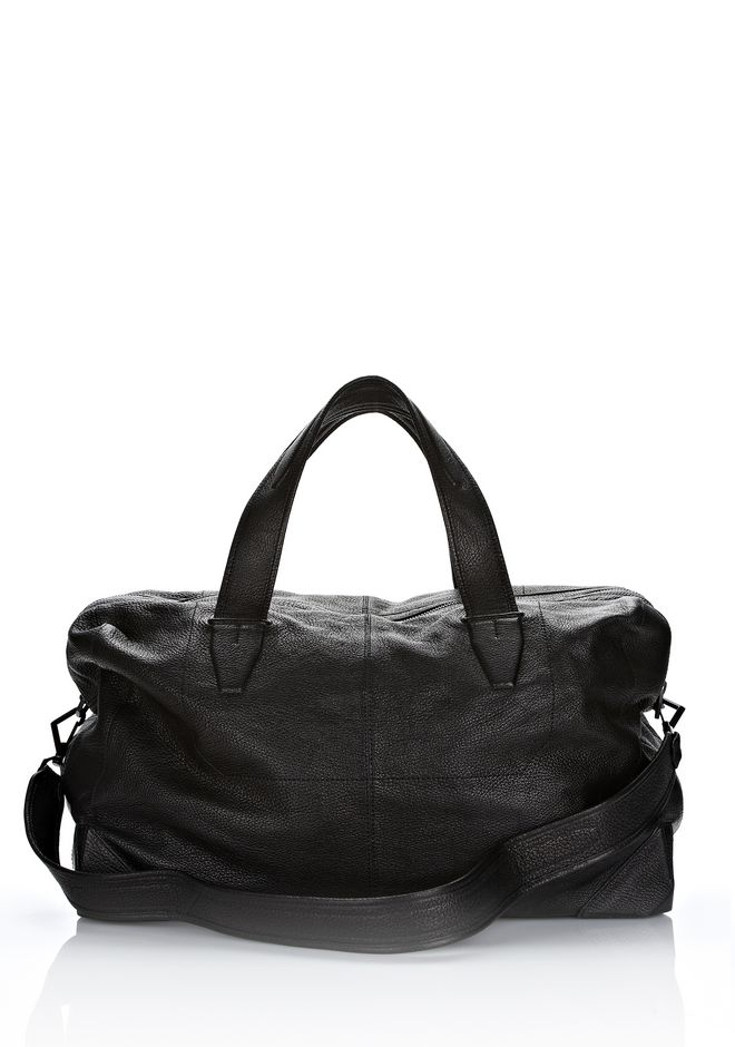 ALEXANDER WANG WALLIE DUFFLE IN BLACK GOATSKIN WITH MATTE BLACK Travel Adult 12_n_f