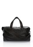 ALEXANDER WANG WALLIE DUFFLE IN BLACK GOATSKIN WITH MATTE BLACK Travel Adult 8_n_d