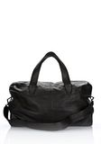 ALEXANDER WANG WALLIE DUFFLE IN BLACK GOATSKIN WITH MATTE BLACK Travel Adult 8_n_f