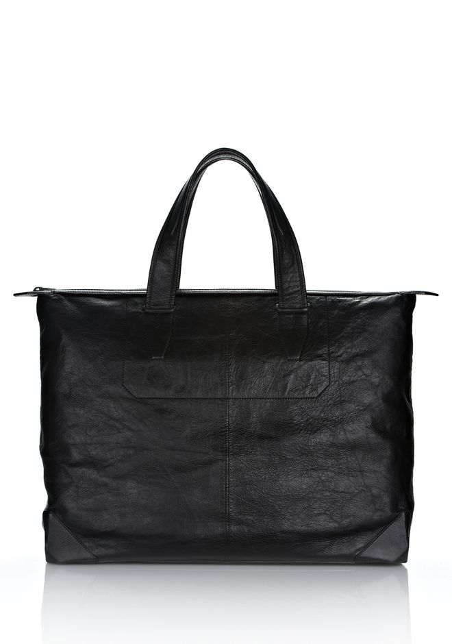 ALEXANDER WANG WALLIE WEEKENDER IN WAXY  BLACK WITH MATTE BLACK Travel Adult 12_n_f