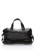 ALEXANDER WANG WALLIE DUFFLE IN BLACK EMBOSSED CROC  WITH RHODIUM Travel Adult 8_n_d