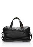 ALEXANDER WANG WALLIE DUFFLE IN BLACK EMBOSSED CROC  WITH RHODIUM Travel Adult 8_n_f