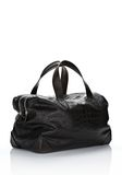 ALEXANDER WANG WALLIE DUFFLE IN BLACK EMBOSSED CROC  WITH RHODIUM Travel Adult 8_n_r