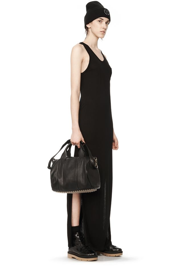 ALEXANDER WANG ROCCO IN SOFT BLACK WITH PALE GOLD Shoulder bag Adult 12_n_r