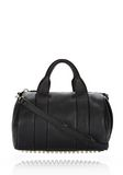 ALEXANDER WANG ROCCO IN SOFT BLACK WITH PALE GOLD Shoulder bag Adult 8_n_f