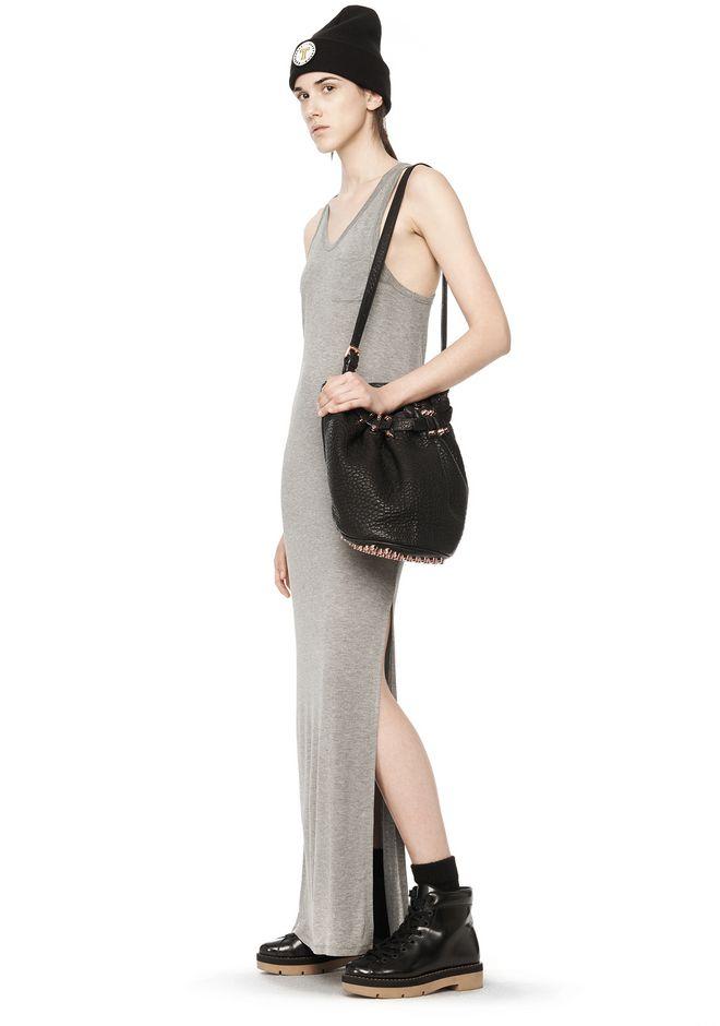 ALEXANDER WANG DIEGO IN BLACK PEBBLE WITH ROSEGOLD Shoulder bag Adult 12_n_r