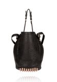 ALEXANDER WANG DIEGO IN BLACK PEBBLE WITH ROSEGOLD Shoulder bag Adult 8_n_d