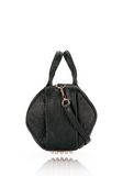 ALEXANDER WANG ROCCO IN BLACK PEBBLE LAMB WITH ROSEGOLD Shoulder bag Adult 8_n_d