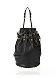 ALEXANDER WANG DIEGO IN BLACK SOFT PEBBLE LEATHER WITH PALE GOLD Shoulder bag Adult 8_n_f