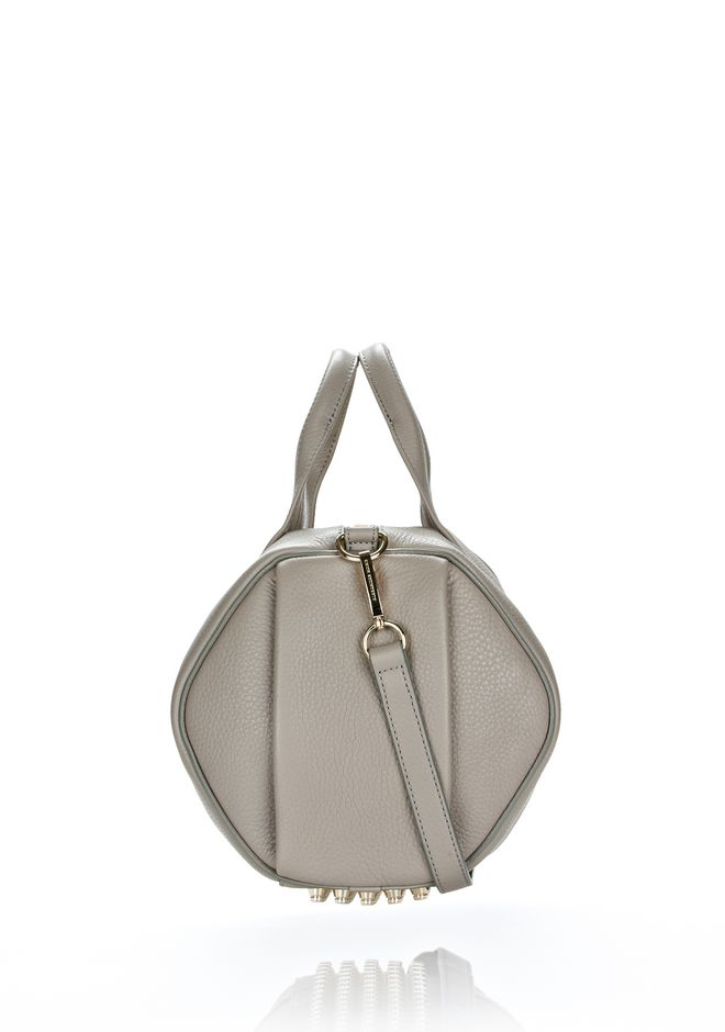 ALEXANDER WANG ROCCO IN OYSTER SOFT PEBBLE LAMB WITH PALE GOLD Shoulder bag Adult 12_n_d