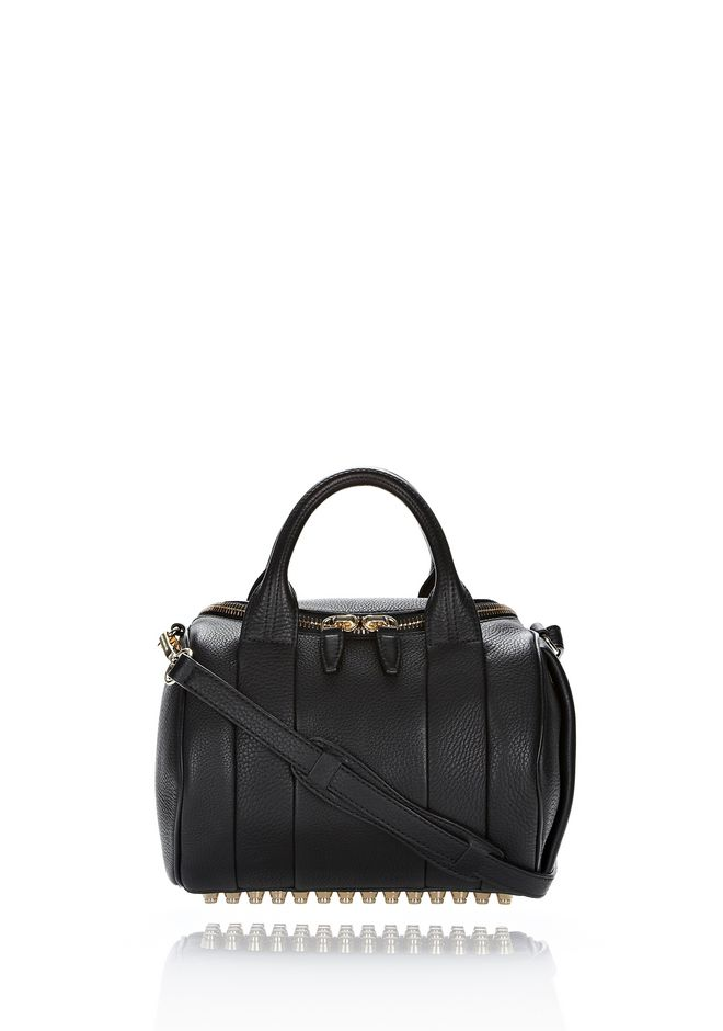 ALEXANDER WANG bags-classics ROCKIE IN SOFT  BLACK WITH PALE GOLD