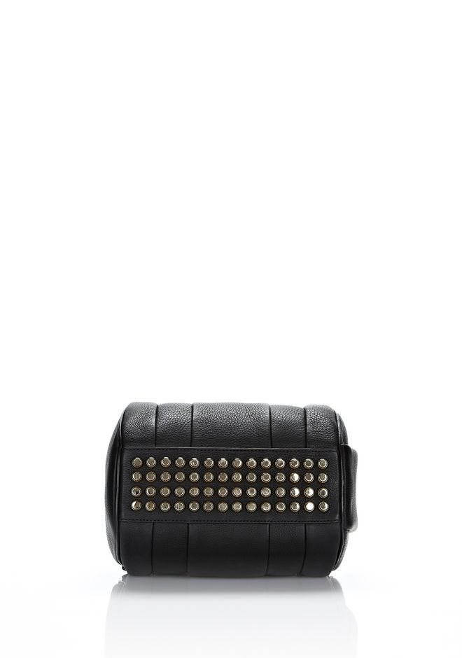 ALEXANDER WANG ROCKIE IN SOFT  BLACK WITH PALE GOLD Shoulder bag Adult 12_n_d