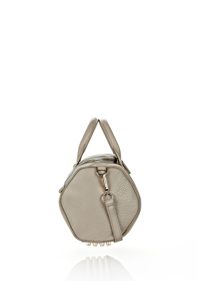 ALEXANDER WANG ROCKIE IN OYSTER SOFT PEBBLE LEATHER W/ PALE GOLD Shoulder bag Adult 12_n_e