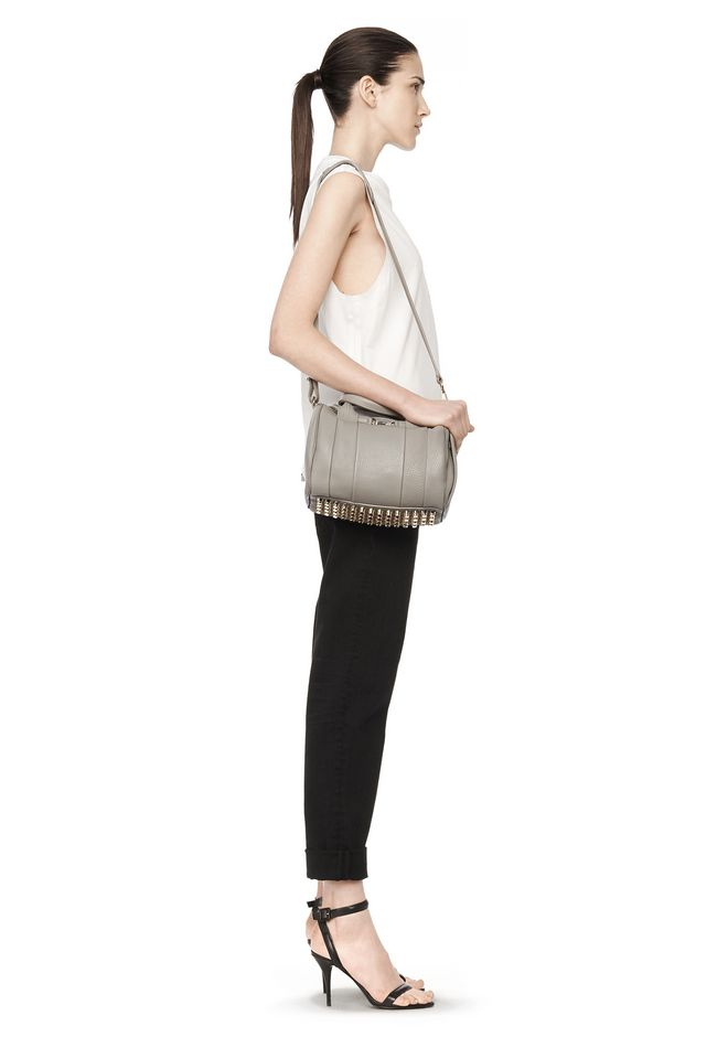 ALEXANDER WANG ROCKIE IN OYSTER SOFT PEBBLE LEATHER W/ PALE GOLD Shoulder bag Adult 12_n_r