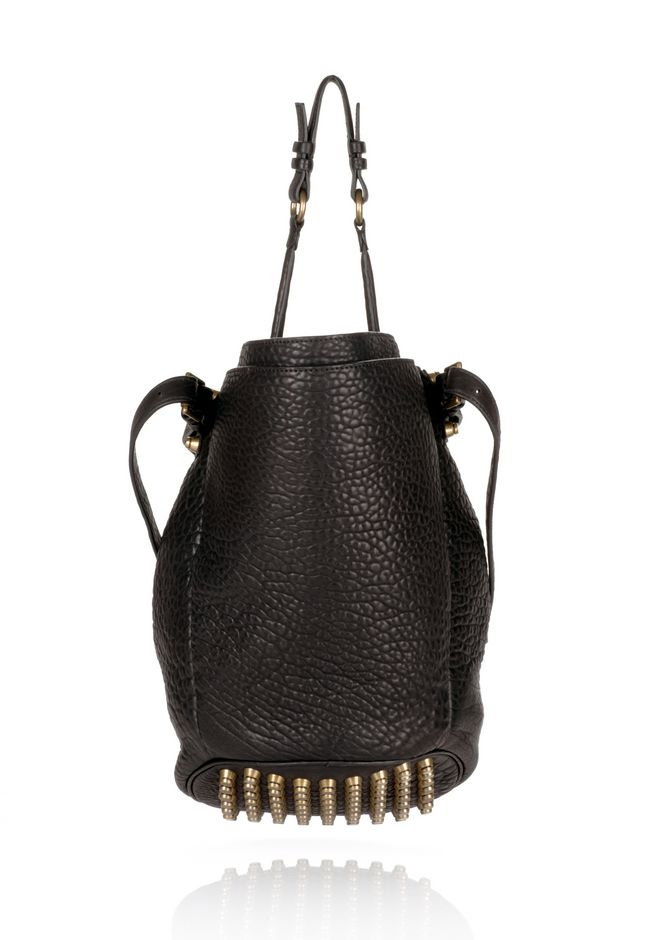 ALEXANDER WANG DIEGO IN BLACK PEBBLE  WITH ANTIQUE BRASS Shoulder bag Adult 12_n_d