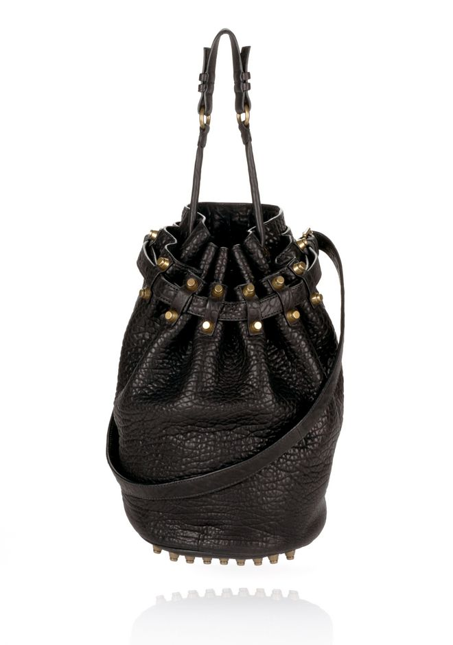 ALEXANDER WANG DIEGO IN BLACK PEBBLE  WITH ANTIQUE BRASS Shoulder bag Adult 12_n_f