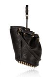 ALEXANDER WANG DIEGO IN BLACK PEBBLE  WITH ANTIQUE BRASS Shoulder bag Adult 8_n_e