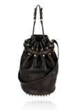 ALEXANDER WANG DIEGO IN BLACK PEBBLE  WITH ANTIQUE BRASS Shoulder bag Adult 8_n_f