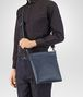 BOTTEGA VENETA SMALL MESSENGER BAG IN LIGHT TOURMALINE INTRECCIATO VN Messenger Bag Man ap