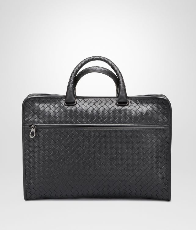 BOTTEGA VENETA BRIEFCASE IN NERO INTRECCIATO CALF Business bag [*** pickupInStoreShippingNotGuaranteed_info ***] fp