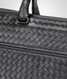 briefcase in nero intrecciato calf Back Detail Portrait