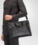 briefcase in nero intrecciato calf Full Out Portrait