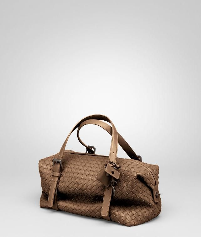 BOTTEGA VENETA Ebano Intrecciato Nappa Montaigne Bag Top Handle Bag D fp