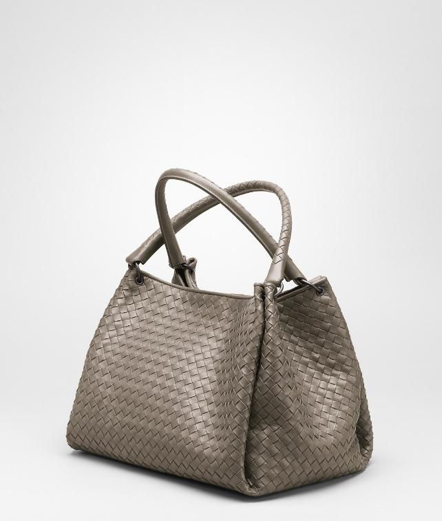 BOTTEGA VENETA Ebano Intrecciato Nappa Parachute Bag Shoulder or hobo bag D fp